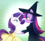 costume dress hat jumblehorse rarity twilight_sparkle witch
