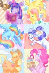 applejack apples book butterfly cake cloud flickex fluttershy glasses leaves magic main_six opalescence owlowiscious pinkie_pie rainbow_dash rarity stars twilight_sparkle