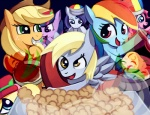 applejack derpy_hooves fluttershy i_shall_not_use_my_hooves_as_hands iron_chef main_six muffin negativefox parody pinkie_pie rainbow_dash rarity twilight_sparkle