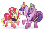 cuteosphere princess_twilight shipping spike sunlight sunset_shimmer twilight_sparkle