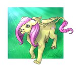 fluttershy icecatdemon lion species_swap