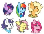 alternate_universe anthro applejack fluttershy main_six mediconmontres personality_swap pinkie_pie rainbow_dash rarity twilight_sparkle ultimare_universe