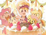 absurdres applejack cake fluttershy highres main_six nendo23 pinkie_pie rainbow_dash rarity twilight_sparkle