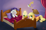 applejack bed bowl lamp rarity sameasusual sick sneeze soup spoon thermometer