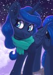 absurdres highres princess_luna pucksterv scarf snow winter