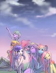 applejack fluttershy highres humanized main_six pinkie_pie quizia rainbow_dash rarity spike twilight_sparkle