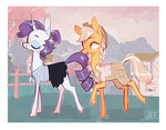 applejack clothes flowers jademoona ponyville rarijack rarity shipping