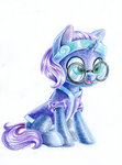 filly glasses maytee nyx original_character traditional_art