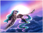 cloud crazydragonqueen flying horselike princess_celestia