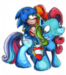 crossover g3 hayhedgehoghay rainbow_dash sonic sonic_the_hedgehog