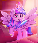 highres magic princess_twilight quill scroll stratodraw twilight_sparkle