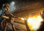 alien_(series) anthro bra1neater flamethrower highres original_character