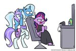 chair egophiliac inconvenienttrixie manecut princess_twilight the_great_and_powerful_trixie twilight_sparkle