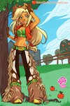 applejack humanized satrathai