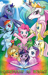 angel applejack book fluttershy gummy guttyworks main_six parasprite pinkie_pie poster princess_celestia princess_luna rainbow_dash rarity spike twilight_sparkle