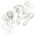 background_ponies fim_crew lauren_faust production_art sketch