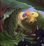 applejack bakuel crocodile highres vine