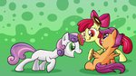 apple_bloom cutie_mark_crusaders doughnut kired25 scootaloo sweetie_belle