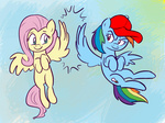 cap fluttershy i_shall_not_use_my_wings_as_hands rainbow_dash willdrawforfood1
