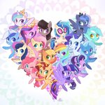 applejack fluttershy highres lyra_heartstrings main_six minuette octavia_melody pinkie_pie princess_cadance princess_celestia princess_luna princess_twilight rainbow_dash rarity sibashen starlight_glimmer sunset_shimmer sweetie_drops the_great_and_powerful_trixie twilight_sparkle vinyl_scratch
