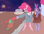 anthro coat gummy pinkie_pie pongtangpong twilight_sparkle umbrella winter