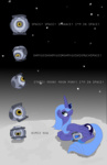 bibliodragon crossover moon portal princess_luna space_core wheatley