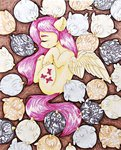 absurdres fluttershy hen highres rysunkowasucharia traditional_art