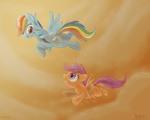dawnmistpony rainbow_dash scootaffection scootaloo