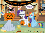 ak71 derpy_hooves halloween highres pumpkin rainbow_dash rarity spider