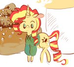 doughnut little pizzakladd sunset_shimmer