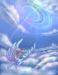 cloud flying rainbow_dash sonic_rainboom stratodraw