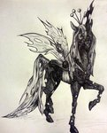 queen_chrysalis torakatt traditional_art