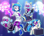camera dj equestria_girls humanized photo_finish species_confusion uotapo vinyl_scratch