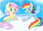 cloud flutterdash fluttershy gmt-gabir rainbow_dash shipping teacup