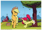 apple_bloom applejack apples highres sweet_apple_acres tree wandrevieira1994