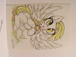 absurdres alts-art derpy_hooves highres muffin traditional_art