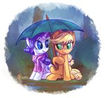 applejack rain rarijack rarijack-daily rarity scarf shipping umbrella whitediamonds
