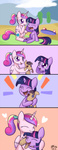 bukoya-star filly hugs plushie princess_cadance scooter smarty_pants tears toy twilight_sparkle