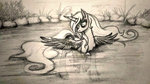 lake princess_luna traditional_art water zetamad