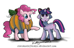 cat_ears costume pinkie_pie pumpkin starshooterfrecklz twilight_sparkle