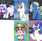 g1 g2 g3 night_glider_(g1) original_character princess_silver_swirl skypinpony star_catcher vinyl_scratch