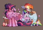 absurdres bathtub brush highres preening princess_twilight rainbow_dash shampoo shore2020 twilight_sparkle