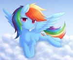 cloud fluffymaiden highres rainbow_dash
