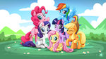 applejack fluttershy highres main_six mysticalpha pinkie_pie rainbow_dash rarity twilight_sparkle