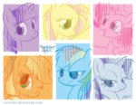 applejack caycowa fluttershy main_six pinkie_pie rainbow_dash rarity twilight_sparkle