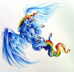 lucky978 rainbow_dash species_swap wolf