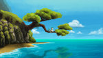 beach highres lolliponybrony sea terramar tree water