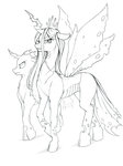 changeling lineart longinius-ii queen_chrysalis