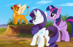 alicorn kodardragon lion princess_twilight rarity the_lion_king twilight_sparkle