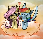 cloud flutterdash fluttershy miupoke rainbow_dash shipping